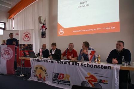 Lutz Rösner. VP Leistungssport im LSB hält ein Grußwort zur VHV
