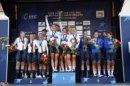 Das Podium von Alkmaar im Teamzeitfahren, links die deutsche Mannschaft.