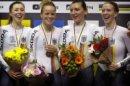 Frauen-Vierer bei den Weltmeisterschaften in Berlin