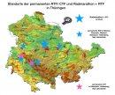 Übersichtskarte von RTF in Thüringen 2018